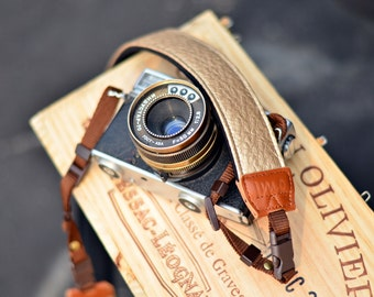 Glamorous Gold Camera Strap suits for DSLR / SLR with Quick Release Buckles