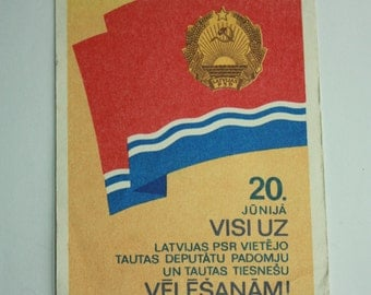 Vintage Document 1982 - Invitation to the elections