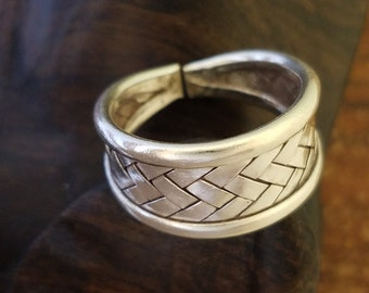 Woven Silver Ring, Braided Silver Ring, Adjustable Ring, Tribal, Groovy, Sterling Silver Woven, Sterling Silver Braided