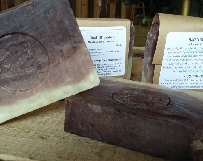 Bad (H)Ombre - Mexican Hot Chocolate --All Natural Soap, Handmade Soap, Barely Scented, Vegetarian Soap