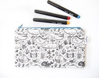 Color-It-In Pencil Case (Whale)