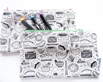 Color-It-In Pencil Case (Sushi)