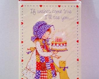Vintage Holly Hobbie Birthday Party Invitations