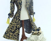 DOLLHOUSE 1/12 scale Ladies Dressing Robe and Matching Pumps