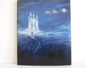 Vintage Disney Christmas 1986 catalog, animation art, Alexander Gallery paperback