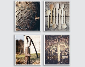 Rustic Kitchen Decor Vertical Portrait Kitchen Artwork Country Kitchen Decor Farmhouse Kitchen Print