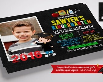Kindergarten Graduation/Graduation Digital Invitation BOY OR GIRL