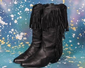 DINGO 1980's Fringed Boots Women's Size 6