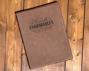 Engraved Leather Portfolio, Personalized Portfolio, Personalized Journal, Business Portfolio, Groomsmen Gift, Graduation Gifts, Notepad