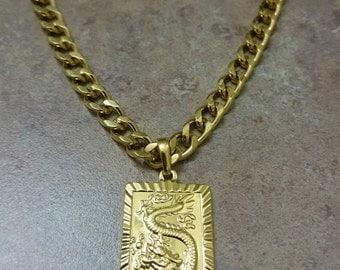 dragon necklace, mens necklace, mens gold necklace,  mens jewelry, gold necklace men, gold necklace for men, gold jewelry, dragon jewelry