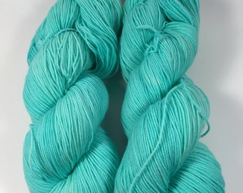Simple Sock, Sock Yarn, Hand Dyed Yarn, Superwash Merino, Nylon, Sock Yarn, Aquadelic  , Yarn