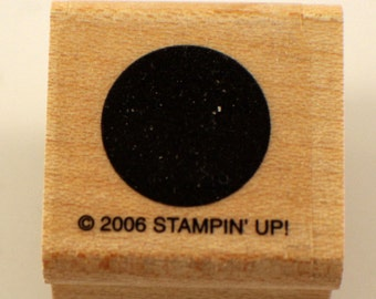 Stampin Up 2006 Port Window Hole Dot Spot  Wooden Rubber Stamp