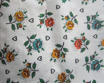 1 1/3 yards polished cotton, vintage fabric, pillows etc, yardage