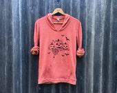 SALE Halloween Shirt, Pumpkin Shirt, Orange Hoodie, Spooky Shirt, S,M,L,XL