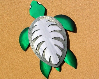 Sea Turtle Art, Sea Turtle Metal Art, Seaturtle Art, Outdoor Art, Large Metal Wall Art