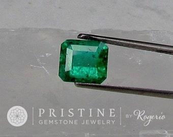 Natural Emerald May Birthstone Emerald Cut Shape for Custom Jewelry