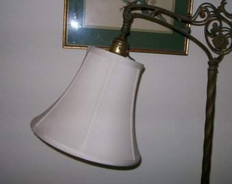 Quality CREAM Silk Shade 4 SMALL Bridge Lamp - NEW!!