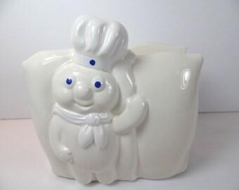 Pillsbury Doughboy Napkin Holder - Vintage Pillsbury Doughboy - Napkin Holder - Pillsbury Doughboy - Doughboy - White Napkin Holder