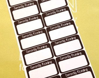 Currently Reading Planner Stickers-Black