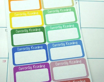 Currently Reading Planner Stickers