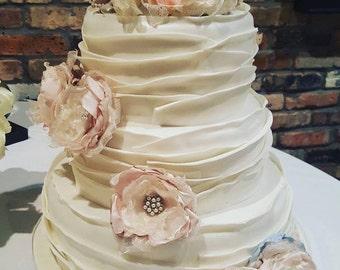 Wedding Cake topper flower cake decor Table centerpiece wedding flower decoration in ivory gold champagne
