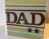 Dad scrapbook Premade pages chipboard book Father- 5x5 scrapbook album daddy Father's Day