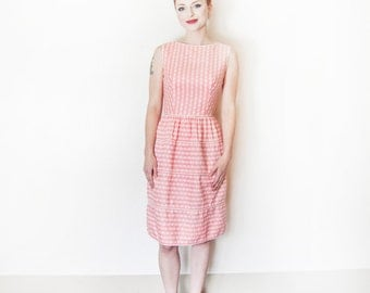 Vintage 1960s LANZ Dress -  Floral Printed Cotton Day Sun Dress 60s - Extra Small