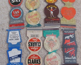 Lot of 8 Assorted Vintage Matchbook Matches Covers (#4)