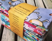 """30 Assorted Reusable Cloth Baby Wipes- 7""""x7"""" 2 Ply Flannel  You pick Patterns, or Assorted ready to ship"""