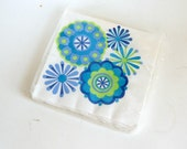 Paper Napkins, Mod Party Flower Power Napkins, Vintage Napkins, Pop Art Flowers