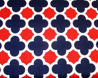 STORE CLOSING Sale Riley Blake Medium Quatrefoil Patriotic 1 yard