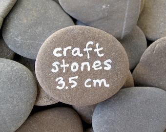 Craft Stones 50 Flat Rocks Beach Stone Supplies Rocks to Paint Alphabet Stones Table Decor Art Kid's Craft - 50 ROCKS 3.5 cm