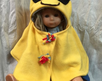 Emoji Baby Capelet Infant Costume Smiling with Sunglasses