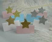 Twinkle Twinkle Star Party Place Cards / Twinkle Little Star Baby Shower / Name cards / Escort Cards / Gold or Silver / Graduation / pcs 20