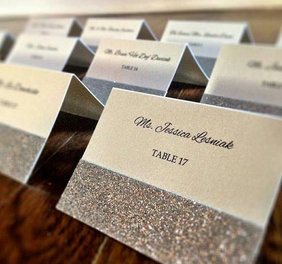 Glitter Place Cards / Glitter Escort Cards