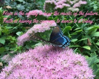 Butterfly Poem Saying  Hope  Inspirational Cancer Awareness Photo for Download or Print