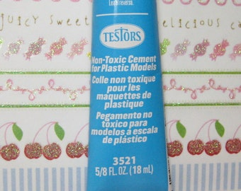 Testors non toxic cement Glue for plastics blue tube kawaii deco crafts hobby models for all ABS and polystyrene Made in USA