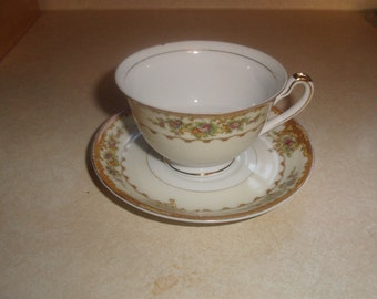 vintage bone china tea cup saucer set hinode japan