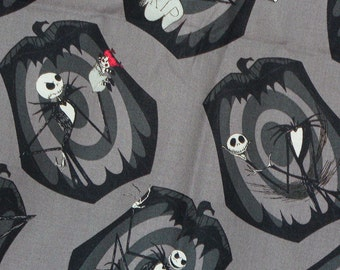 Nightmare before Christmas, Pumpkin King, Jack Skellington, Jack Fabric, By the Yard, Cotton fabric, Camelot Fabrics