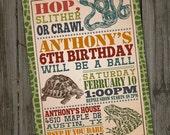 Reptile Birthday Invitation, PRINTABLE, Reptile Party Invitation, Snake Party, Reptile Invitation, Reptile Theme Party