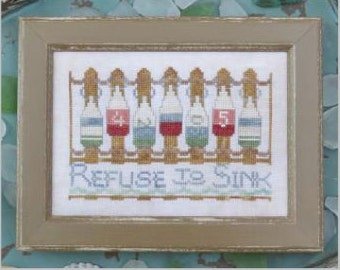 Refuse to Sink cross stitch patterns To The Beach #9 nautical by Hands On Design at thecottageneedle.com ocean seaside embroidery