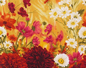 Timeless Treasures - Large Scale Dahlias - Dahlia Collection - Chong-A Hwang - By The Yard