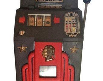 Original Deco Jennings Silver Nickel Indian Slot Game Machine
