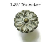 "Vintage French Provincial Drawer Knob - 1.25"" Diameter Ornate Pull"
