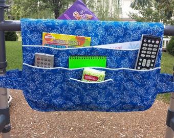 Bright Blue, Walker Bag, Walker Bags, Caddy, Organizer Tote, Fits Standard Walkers, Lots of Pockets