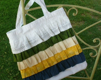 Ruffle Tote Bag by Wee Woolly Burros