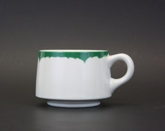 Vintage Shenango Coffee Cup with Green Rim (E5711)