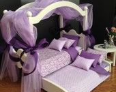 Fifth Anniversary Edition canopy bed, trundle and end table for 18 in American Girl doll