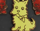 1 scotty dog  enamel finding. scotty dog charm. dog pendant    N0.00214