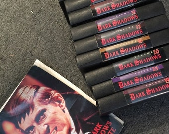 DARK SHADOWS Barnabas Collins Tribute Book with 12 VHS Video Tapes at Gothic Rose Antiques